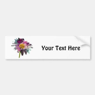 Mosaic Polygon Daisy Purple & Blue Car Bumper Sticker