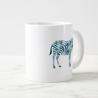 Mosaic Polygon Green & Blue Zebra Jumbo Mugs