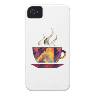 Mosaic Polygon Orange Cup of Cocoa or Coffee iPhone 4 Case-Mate Case