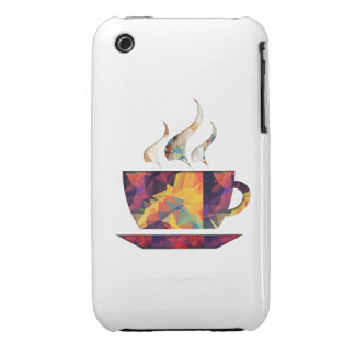 Mosaic Polygon Orange Cup of Cocoa or Coffee Case-Mate iPhone 3 Case