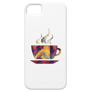 Mosaic Polygon Orange Cup of Cocoa or Coffee iPhone 5 Cases