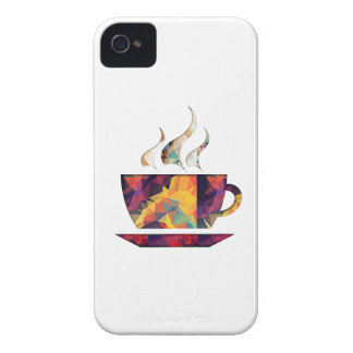 Mosaic Polygon Orange Cup of Cocoa or Coffee iPhone 4 Case