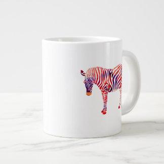 Mosaic Polygon Red & Blue Zebra Jumbo Mugs