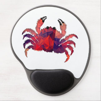 Mosaic Polygon Red Crab Gel Mouse Pad