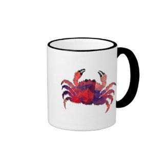 Mosaic Polygon Red Crab Coffee Mugs