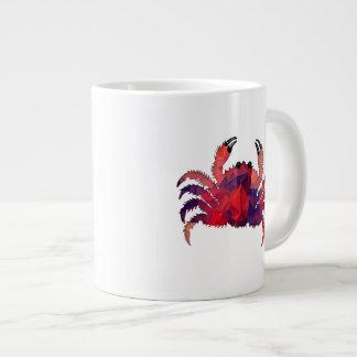 Mosaic Polygon Red Crab Extra Large Mug
