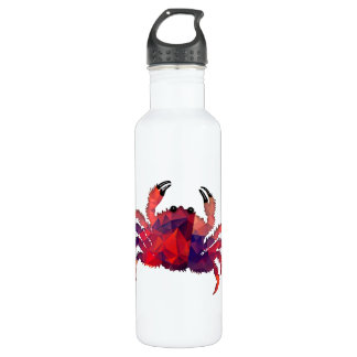 Mosaic Polygon Red Crab Water Bottle