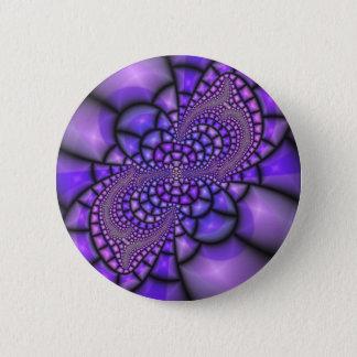 Mosaic Purple Flower Button
