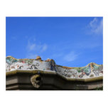 Mosaic railings in Gaudi's Park Guell Postcard