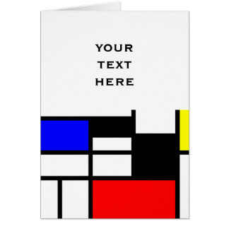 MOSAIC rectangles squares colored I + your ideas Greeting Card