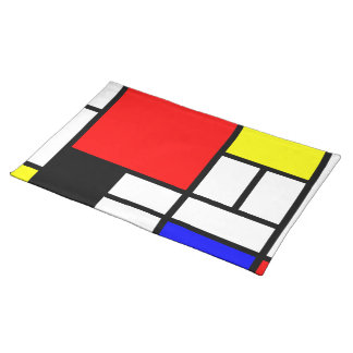 MOSAIC rectangles squares colored I + your ideas Cloth Placemat
