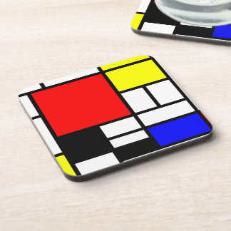 MOSAIC rectangles squares colored I + your ideas Drink Coaster