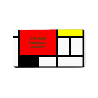 MOSAIC rectangles squares colored I + your ideas Address Label