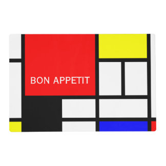 MOSAIC rectangles squares colored I + your ideas Placemat