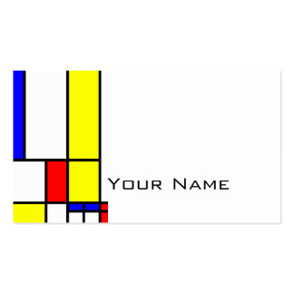 MOSAIC rectangles squares colored II + your ideas Business Card