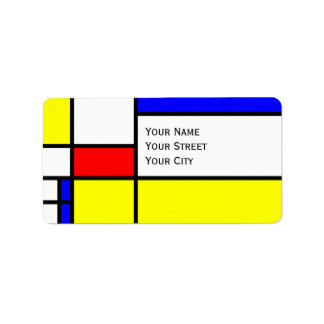 MOSAIC rectangles squares colored II + your ideas Address Label