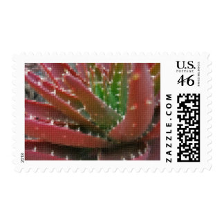 Mosaic Red-Green Aloe 2 Postage