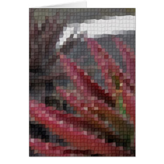 Mosaic Red-Green Aloe 3 Greeting Cards