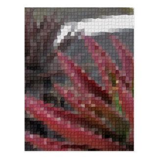 Mosaic Red-Green Aloe 3 Postcard
