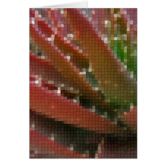 Mosaic Red-Green Aloe 4 Greeting Card