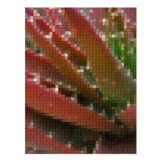 Mosaic Red-Green Aloe 4 Postcards