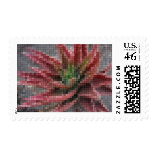 Mosaic Red-Green Aloe 5 Postage Stamp