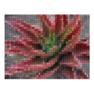 Mosaic Red-Green Aloe 5 Post Card