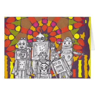 Mosaic Robots 1 Card