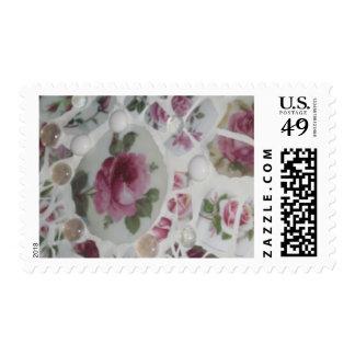 Mosaic Rose mail Postage stamp