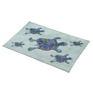 Mosaic Sea Turtle Custom Placemats