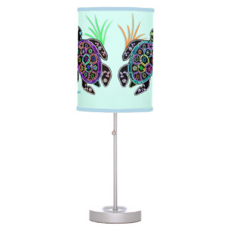Mosaic Sea Turtles Lampshade Lamp