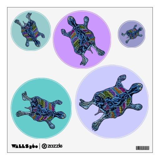 Mosaic Sea Turtles Wall Decals