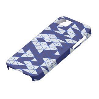 Mosaic series : Dark Blue - White iPhone SE/5/5s Case