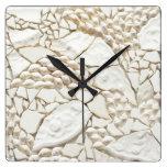 Mosaic shell tile clock