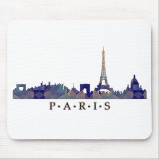 Mosaic Silhouette of Paris Skyline Mousepads