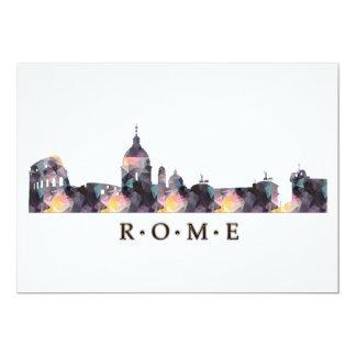 Mosaic Silhouette of Rome Skyline Card