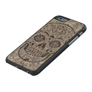 Mosaic Skull Carved® Maple iPhone 6 Case