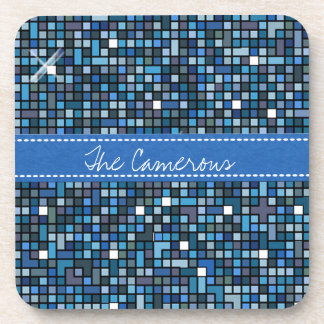 Mosaic Squares Blue SSTX Coaster