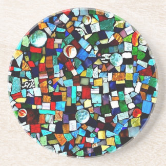 Mosaic - Stained Glass - Sandstone Coaster