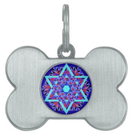 Mosaic Star of David. Pet Tag