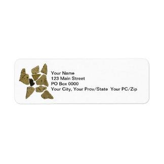 Mosaic Stone Man Custom Return Address Label