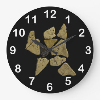 Mosaic Stone Man Large Clock
