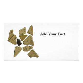 Mosaic Stone Man Photo Card