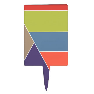 MOSAIC stripes triangles colored I + your ideas Cake Toppers