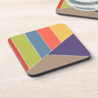 MOSAIC stripes triangles colored I + your ideas Drink Coaster