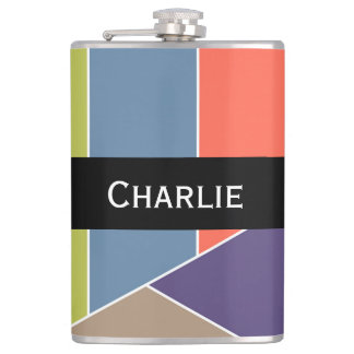 MOSAIC stripes triangles colored I + your ideas Flask