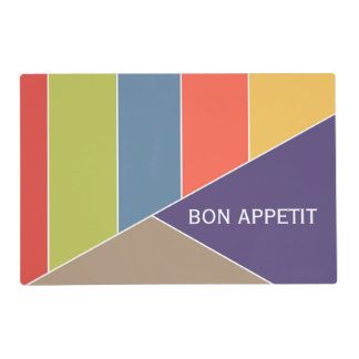 MOSAIC stripes triangles colored I + your ideas Placemat