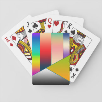 MOSAIC stripes triangles colored II + your ideas Playing Cards