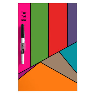 MOSAIC stripes triangles colored III + your ideas Dry Erase Board