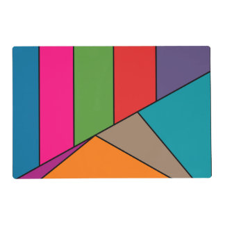 MOSAIC stripes triangles colored III + your ideas Placemat